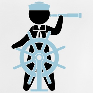 A sailor controls the rudder of a ship Shirts - Baby T-Shirt