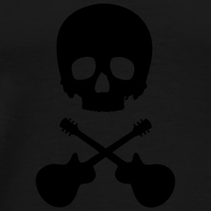 Scull with guitars Mugs & Drinkware - Men's Premium T-Shirt