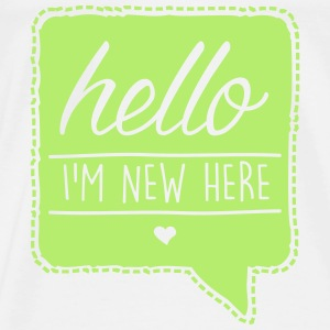 Wit HELLO - I´m new here Baby body - Mannen Premium T-shirt