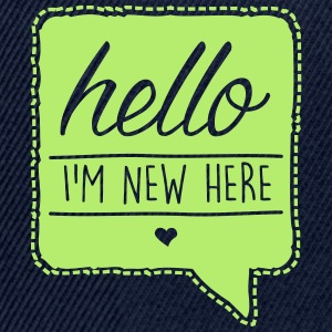 Navy HELLO - I´m new here T-shirts - Snapback cap