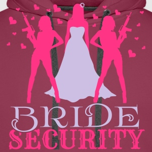 Bride Security T-Shirts - Men's Premium Hoodie