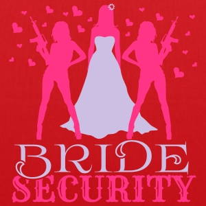 Bride Security Magliette - Borsa di stoffa