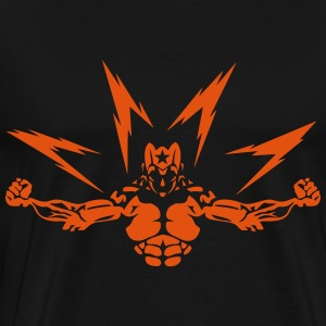 super heros eclair muscle 0 bodybuilder Sweat-shirts - T-shirt Premium Homme