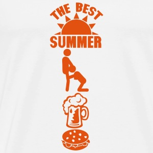best summer pipe biere bouffe soleil log Manches longues - T-shirt Premium Homme