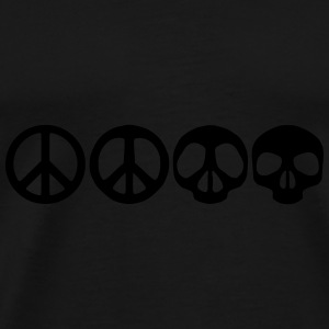 Peace Skull Dead Caps & Hats - Men's Premium T-Shirt