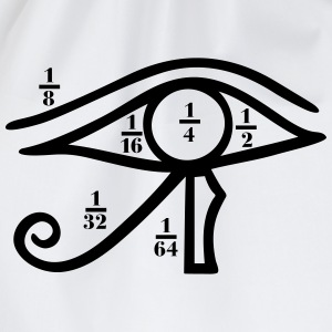 Eye of Horus, Heqat, Fractional Numbers, Egypt Magliette - Sacca sportiva