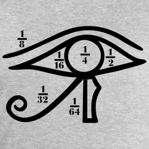 Eye of Horus, Heqat, Fractional Numbers, Egypt T-S - Men's Sweatshirt by Stanley & Stella