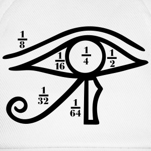 Eye of Horus, Heqat, Fractional Numbers, Egypt T-Shirts - Baseball Cap