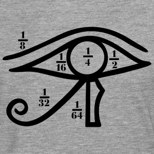 Eye of Horus, Heqat, Fractional Numbers, Egypt Tee shirts - T-shirt manches longues Premium Homme