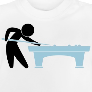 A pool player is on the pool table Shirts - Baby T-Shirt