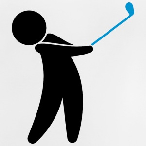 A golfer swings his golf club Shirts - Baby T-Shirt