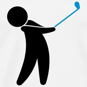A golfer swings his golf club Sports wear - Men's Premium T-Shirt