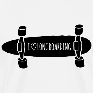 I love Longboarding Long Sleeve Shirts - Men's Premium T-Shirt