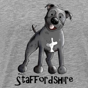 Drôle Staffordshire Bull Terrier Manches longues - T-shirt Premium Homme