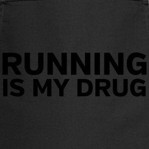 Running Is My Drug T-shirts - Forklæde