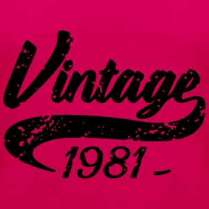 Vintage 1981 Hoodies & Sweatshirts - Women's Premium Tank Top