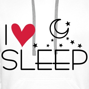 I love sleep Pillowcase, 80 x 40 cm - Men's Premium Hoodie