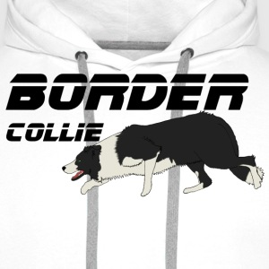 border collie Tee shirts - Sweat-shirt à capuche Premium pour hommes