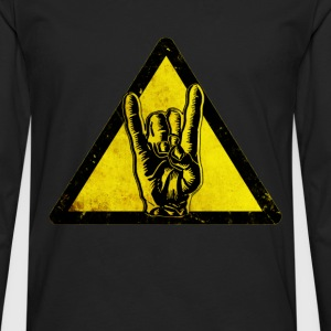 Heavy metal Warning - Men's Premium Longsleeve Shirt