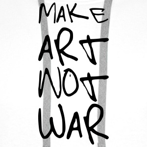 Make Art not War ! Kopper & tilbehør - Premium hettegenser for menn