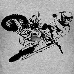 Moto Cross - motocross Sweatshirts - Herre Slim Fit T-Shirt