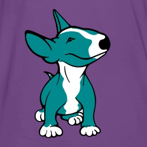 Bull Terrier Pup Teal Women's Hoodie - Men's Premium T-Shirt