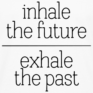 Inhale The Future - Exhale The Past T-shirts - Herre premium T-shirt med lange ærmer