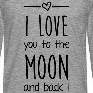 I love you to the moon Pullover & Hoodies - Männer Premium Langarmshirt