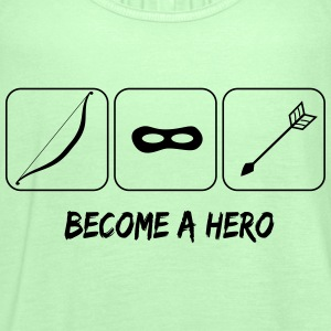 Become a hero T-shirts - Vrouwen tank top van Bella