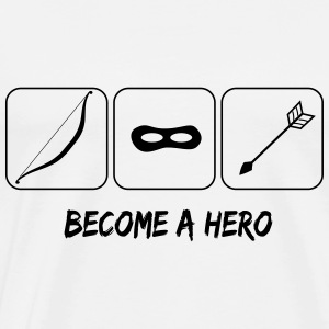 Become a hero Pullover & Hoodies - Männer Premium T-Shirt