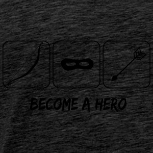 Become a hero Sweaters - Mannen Premium T-shirt