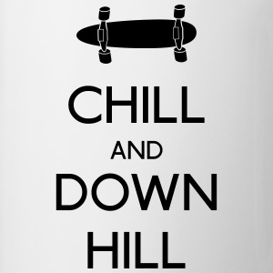 Chill and downhill chill y descenso Camisetas - Taza