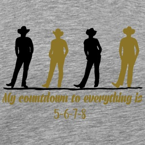Line dance countdown Tops - Men's Premium T-Shirt