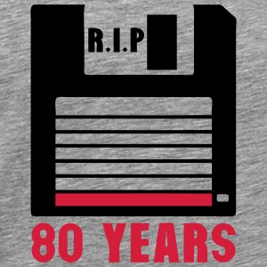 Rip 80 years floppy disk 3 inch Long sleeve shirts - Men's Premium T-Shirt