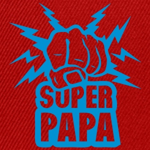 super papa poing fermer force eclair Tee shirts - Casquette snapback