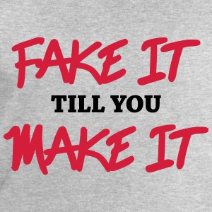 Fake it till you make it Langarmshirts - Männer Sweatshirt von Stanley & Stella