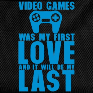 video games was my first love last Langarmshirts - Kinder Rucksack