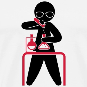A scientist holding a test tube Mugs & Drinkware - Men's Premium T-Shirt