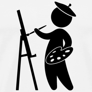 A painter working on his masterpiece Long Sleeve Shirts - Men's Premium T-Shirt