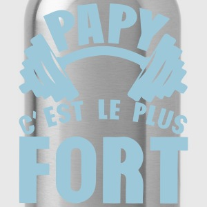 papy plus fort haltere logo Tee shirts - Gourde