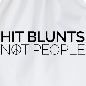 Hit Blunts, Not People T-Shirts - Turnbeutel