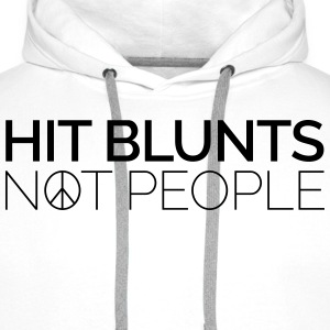 Hit Blunts, Not People T-skjorter - Premium hettegenser for menn