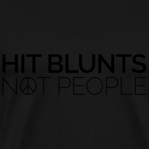 Hit Blunts, Not People Gensere - Premium T-skjorte for menn