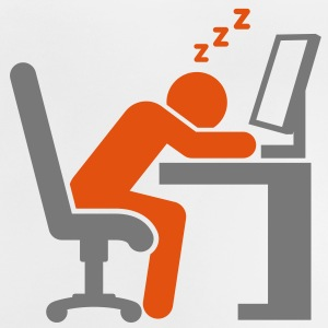 An employee sleeping at his computer Shirts - Baby T-Shirt