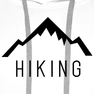 Hiking Outdoor Mountain T-Shirts - Männer Premium Hoodie