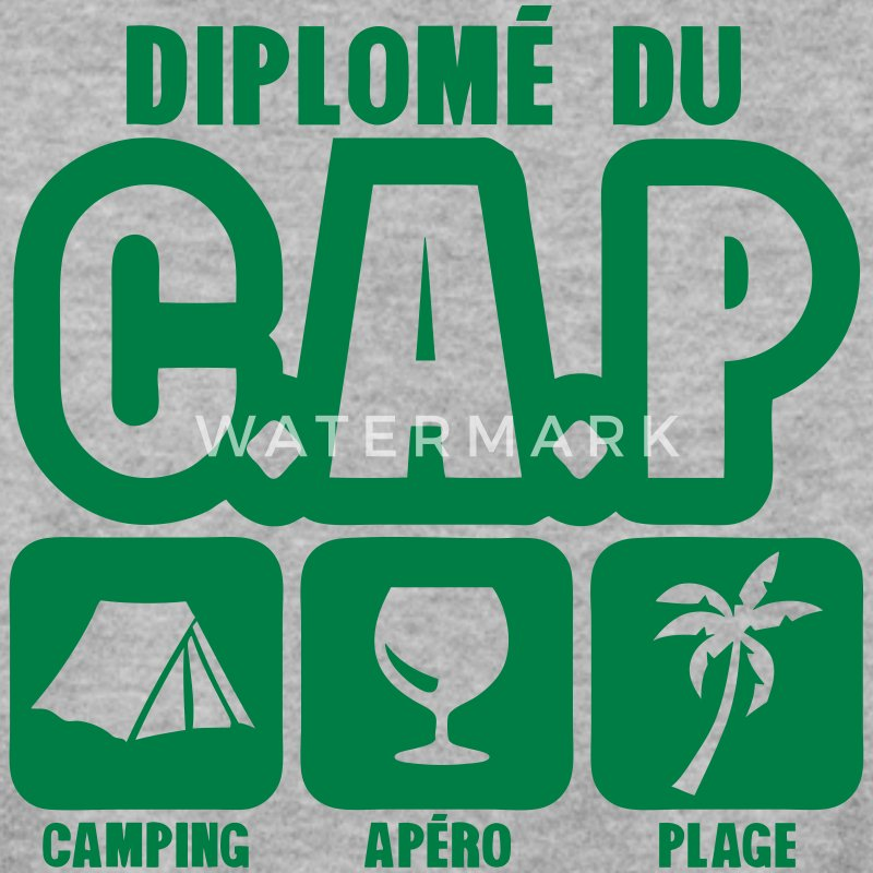 diplome cap camping apero plage humour Sweat-shirts - Sweat-shirt Homme