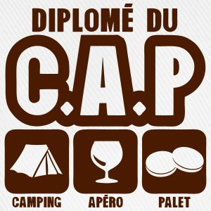 diplome cap camping apero palet humour Tee shirts - Casquette classique