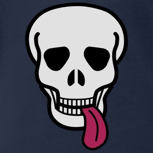 tongue skull T-Shirts - Baby Bio-Kurzarm-Body