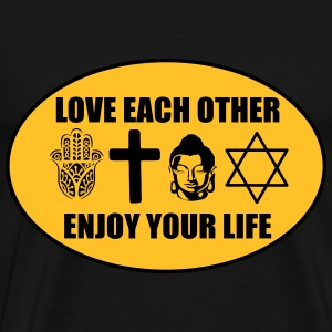 Love each other Sacs et sacs à dos - T-shirt Premium Homme