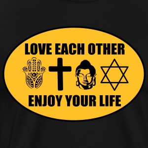 Love each other Tabliers - T-shirt Premium Homme